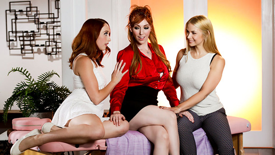 [AllGirlMassage] Sarah Vandella, Lauren Phillips, Luna Lain (Intimacy Issues / 02.24.2020)
